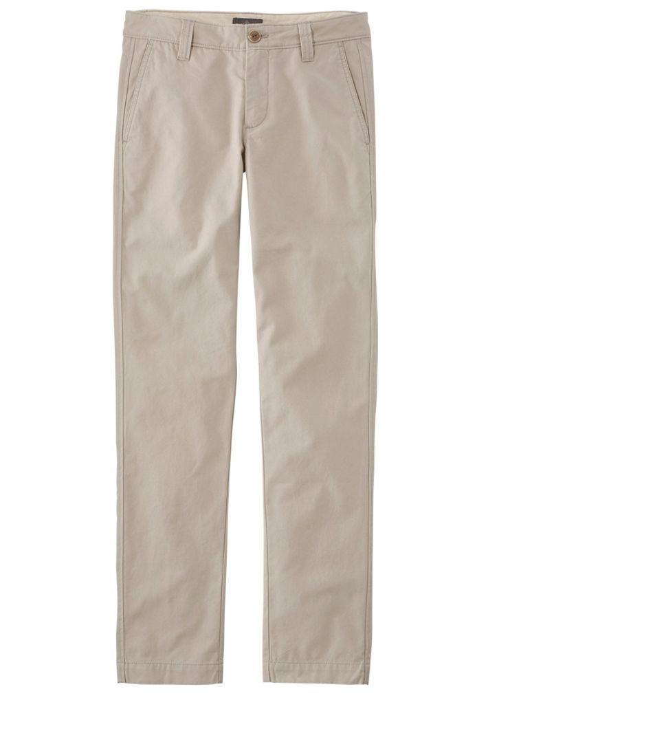 Signature Washed Canvas Cloth Pants, Slim Straight