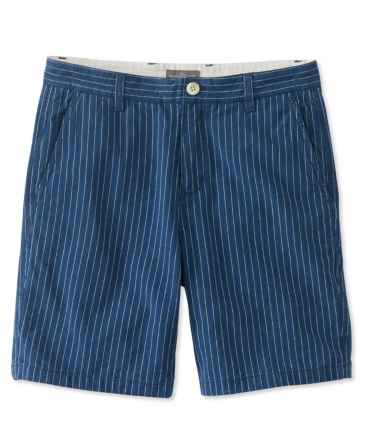 Signature Indigo Canvas Shorts, Stripe
