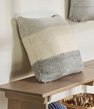 Marl Moss Pillow, Stripe