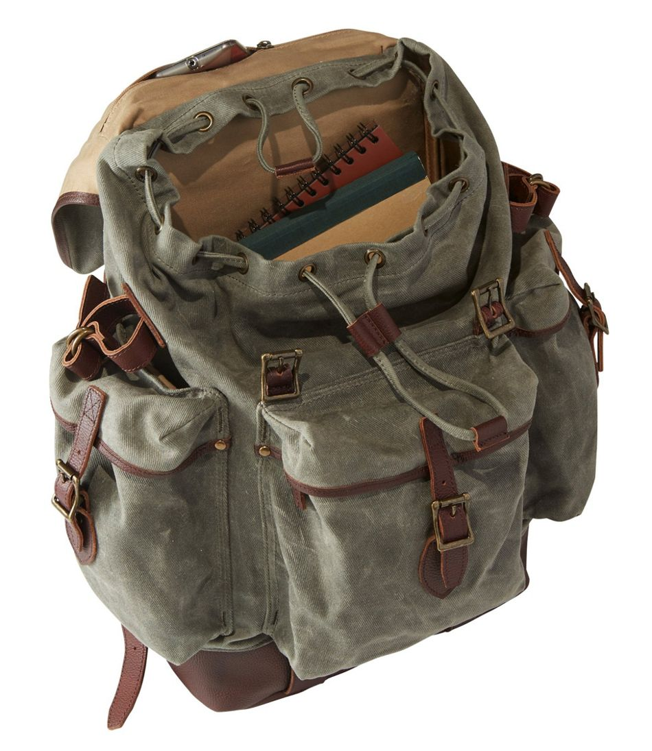 Adults' L.L.Bean Waxed-Canvas Continental Rucksack