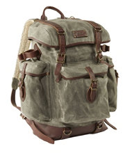 L.L.Bean Waxed-Canvas Continental Rucksack