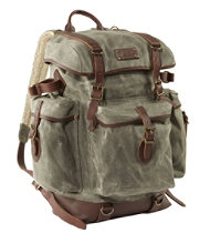 5196957b58fc L.L.Bean Waxed-Canvas Continental Rucksack