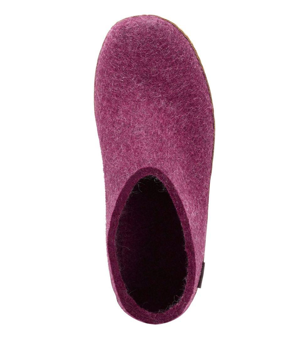 Adults' Glerups Wool Slippers, Open Heel