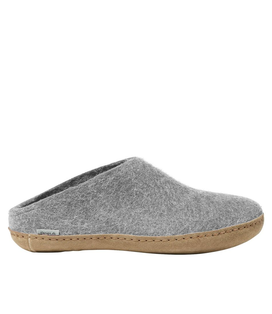 Adults' Glerups Wool Slippers, Open Heel