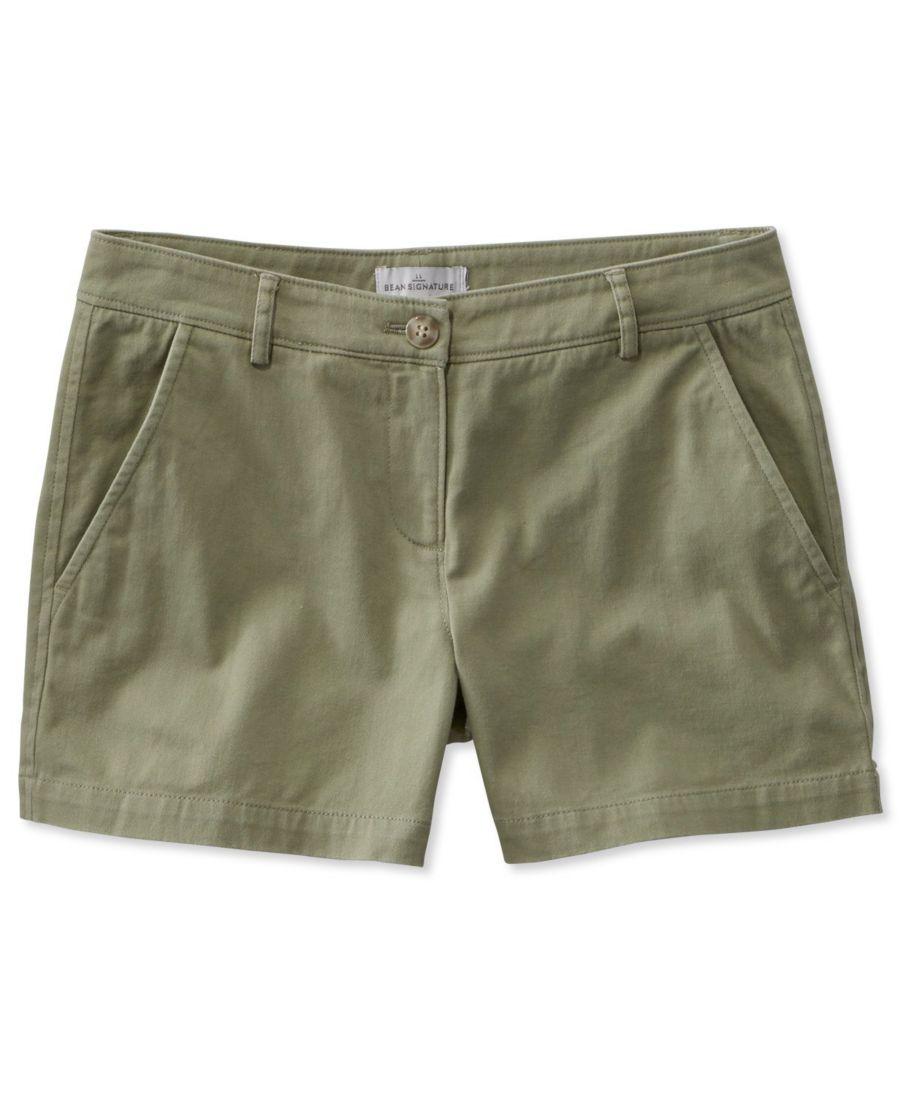 """Signature Washed Twill Shorts, 4"""""""