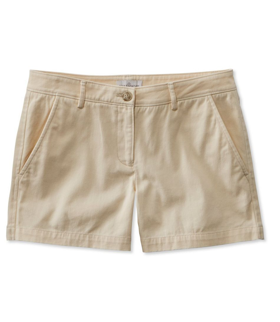 Signature Washed Twill Shorts, 4""