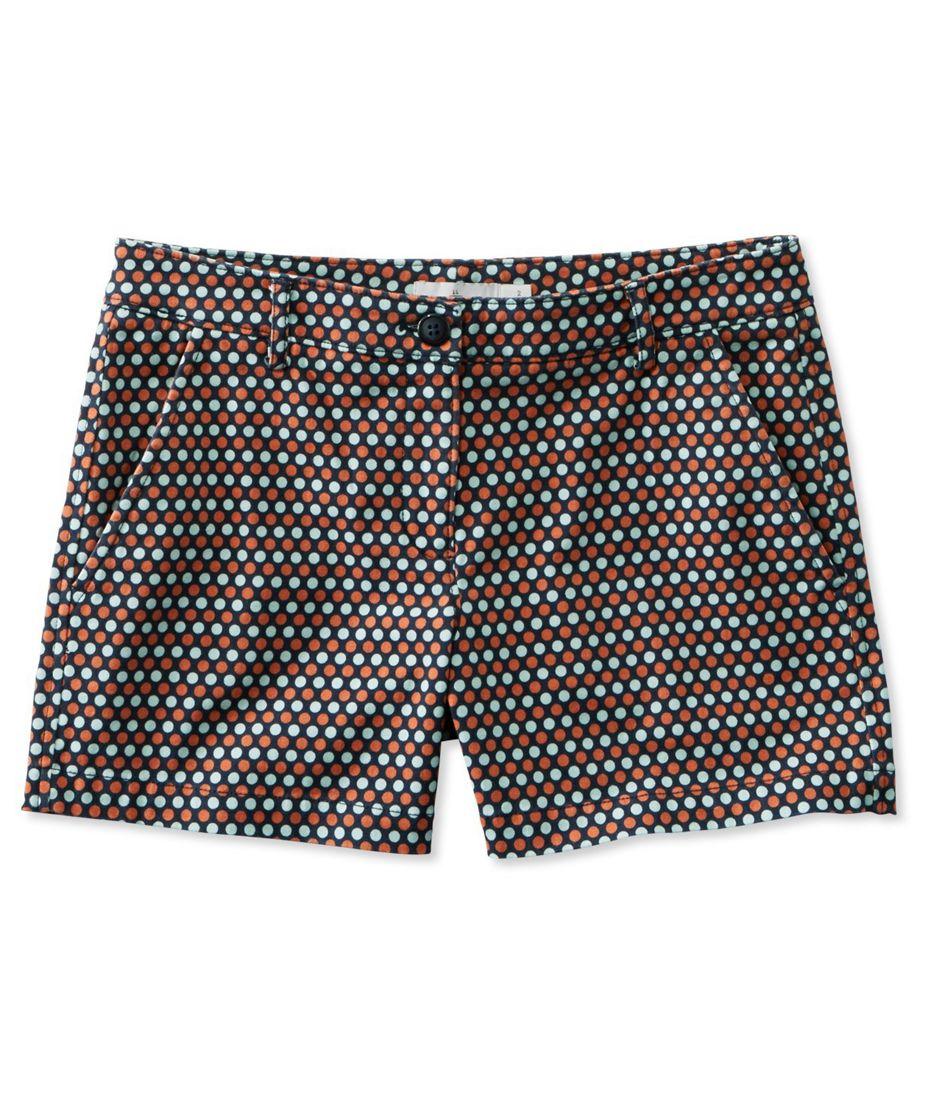 "Signature Washed Twill Shorts, 4"" Print"