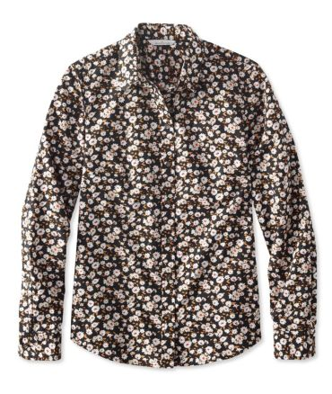 Signature Essential Button-Front Shirt, Print