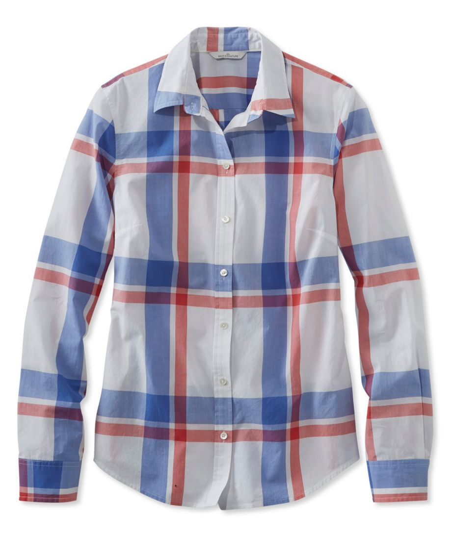 Signature Essential Button-Front Shirt, Plaid
