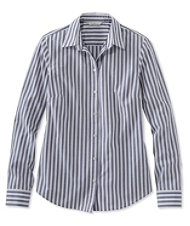 Signature Essential Button-Front Shirt, Stripe