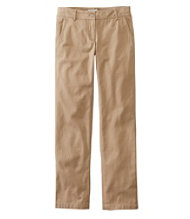 Women's Signature Washed Twill Pants, Slim Straight-Leg