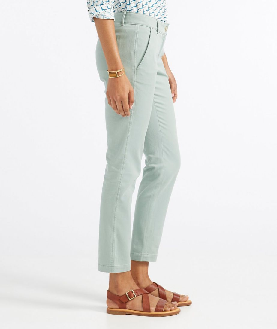 Signature Washed Twill Ankle Pants