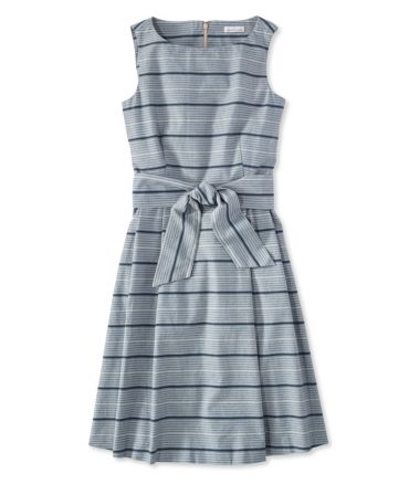 The Signature Chambray Dress, Indigo Print