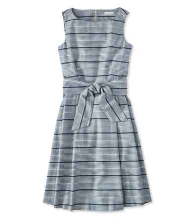 Signature Chambray Dress, Indigo Print