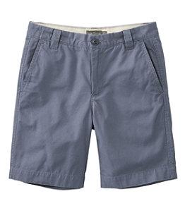 "Men's Signature Washed-Canvas Cloth Shorts, Slim Straight 8"""