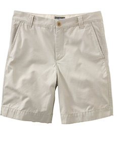 Men's Signature Washed-Canvas Cloth Shorts, Slim Straight 8""