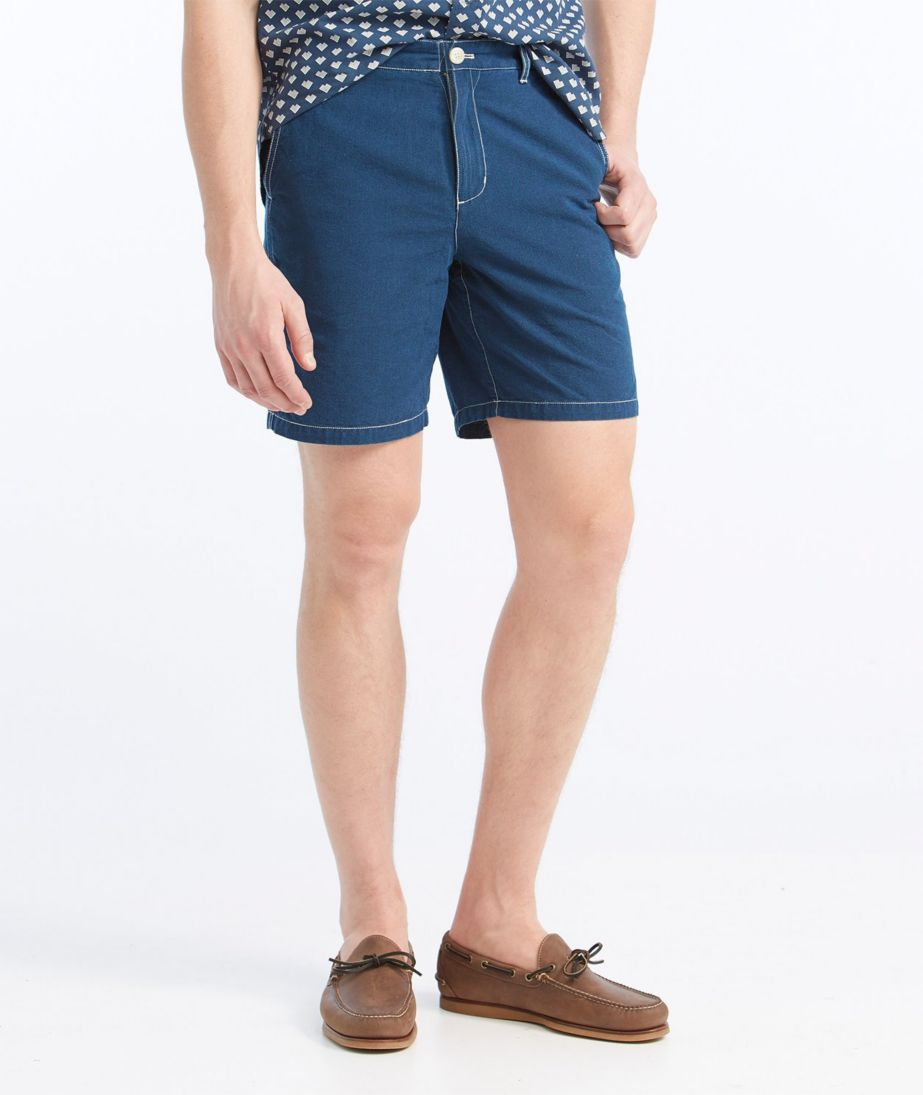 Signature Indigo Canvas Shorts