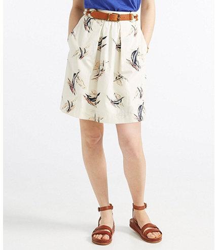 Women S Signature Poplin Skirt Sailcloth Print Free