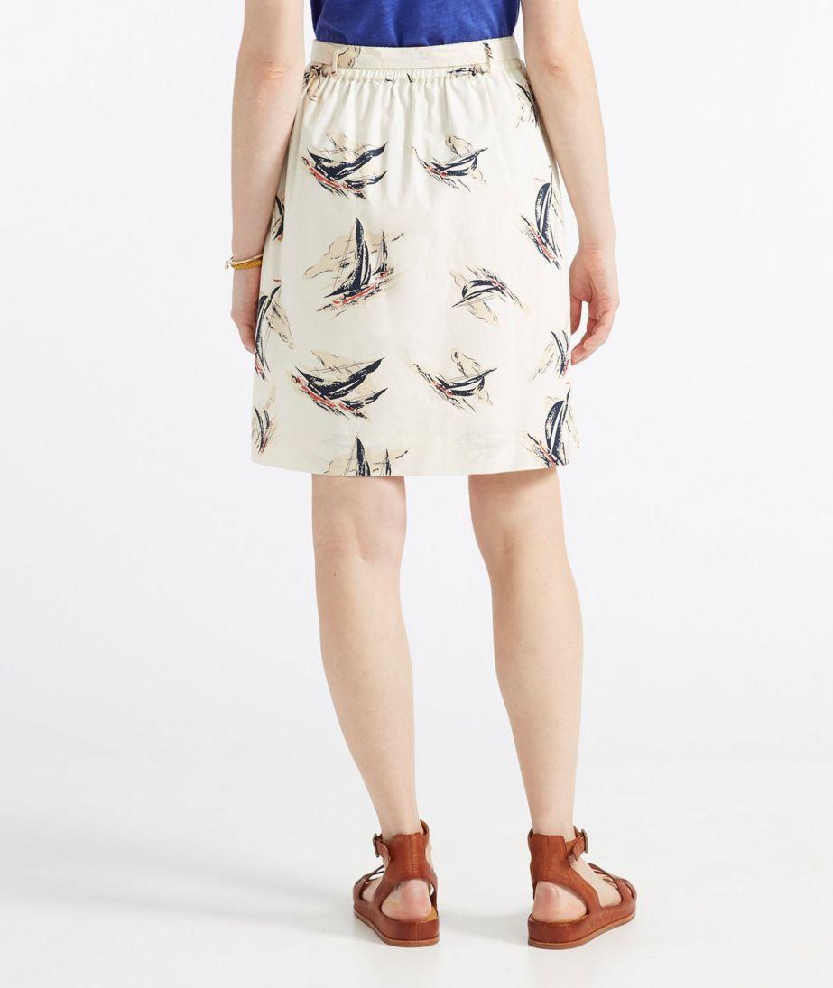 Signature Poplin Skirt, Sailcloth Print