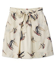 Signature Poplin Skirt, Sailcloth Print