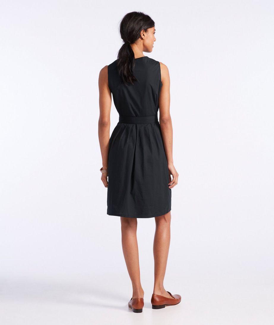 Signature V-Neck Poplin Dress