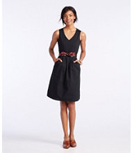 Signature V-Neck Poplin Dress