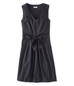 Women's Signature V-Neck Poplin Dress