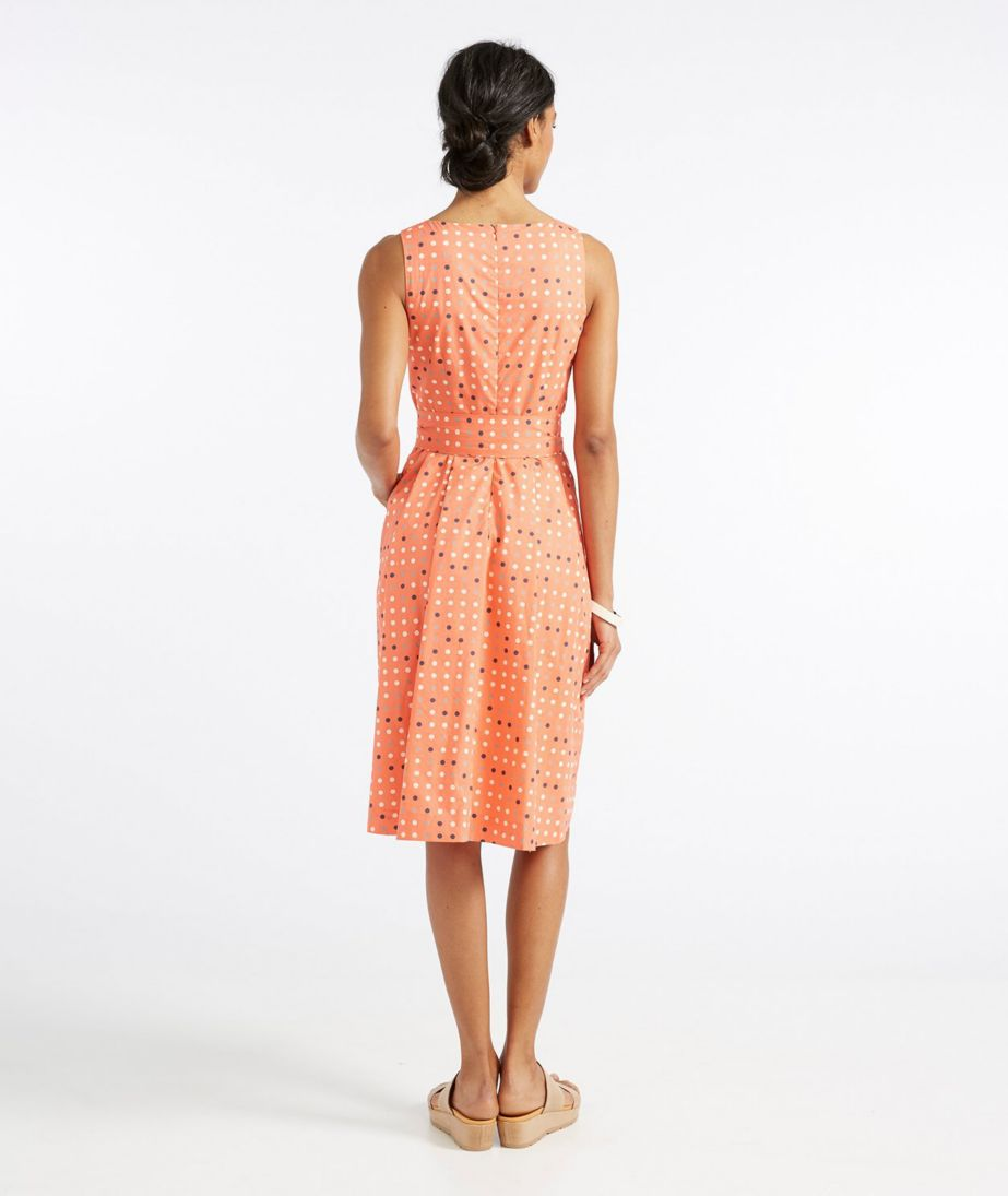 Signature Poplin Dress, Reef Coral Dot