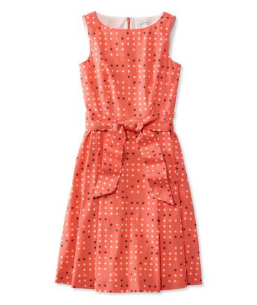 The Signature Poplin Dress, Reef Coral Dot