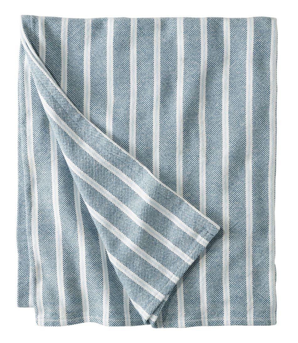 Brahms Mount Cotton Blanket, Stripe