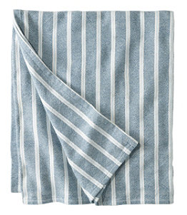 Brahms Mount Cotton Blanket, Stripe