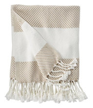Brahms Mount Cotton Throw, Herringbone