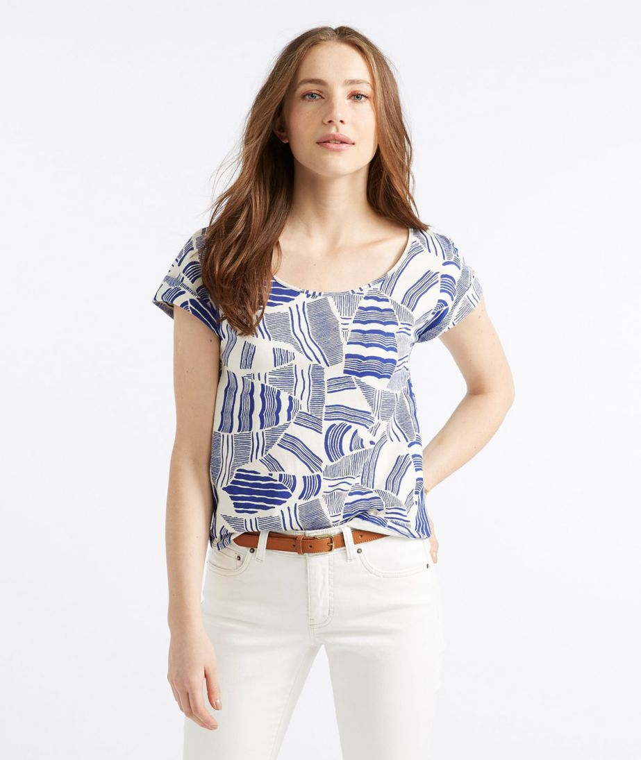 Signature Cotton/Modal Short-Sleeve Scoopneck