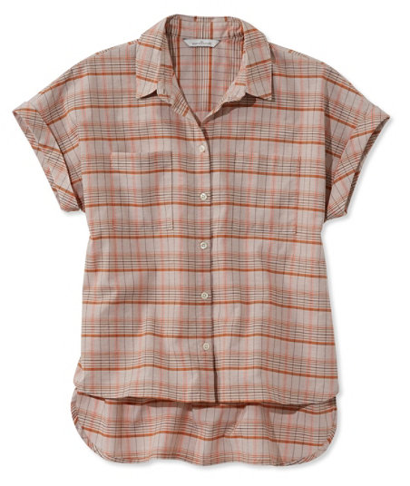 1940s Blouses and Tops Signature Madras Shirt Short-Sleeve  AT vintagedancer.com