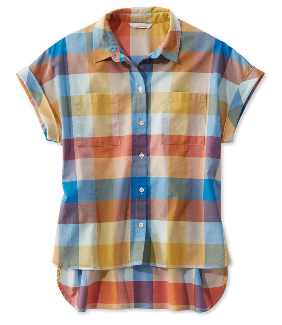 Signature Madras Shirt, Short-Sleeve