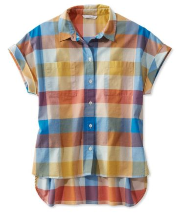 Signature Madras Shirt, Short-Sleeve
