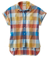 Women's Signature Madras Shirt, Short-Sleeve