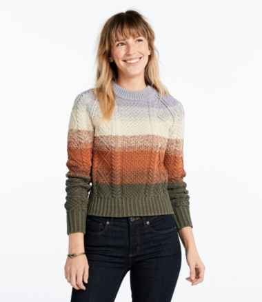 Women's Signature Cotton Fisherman Sweater, Stripe