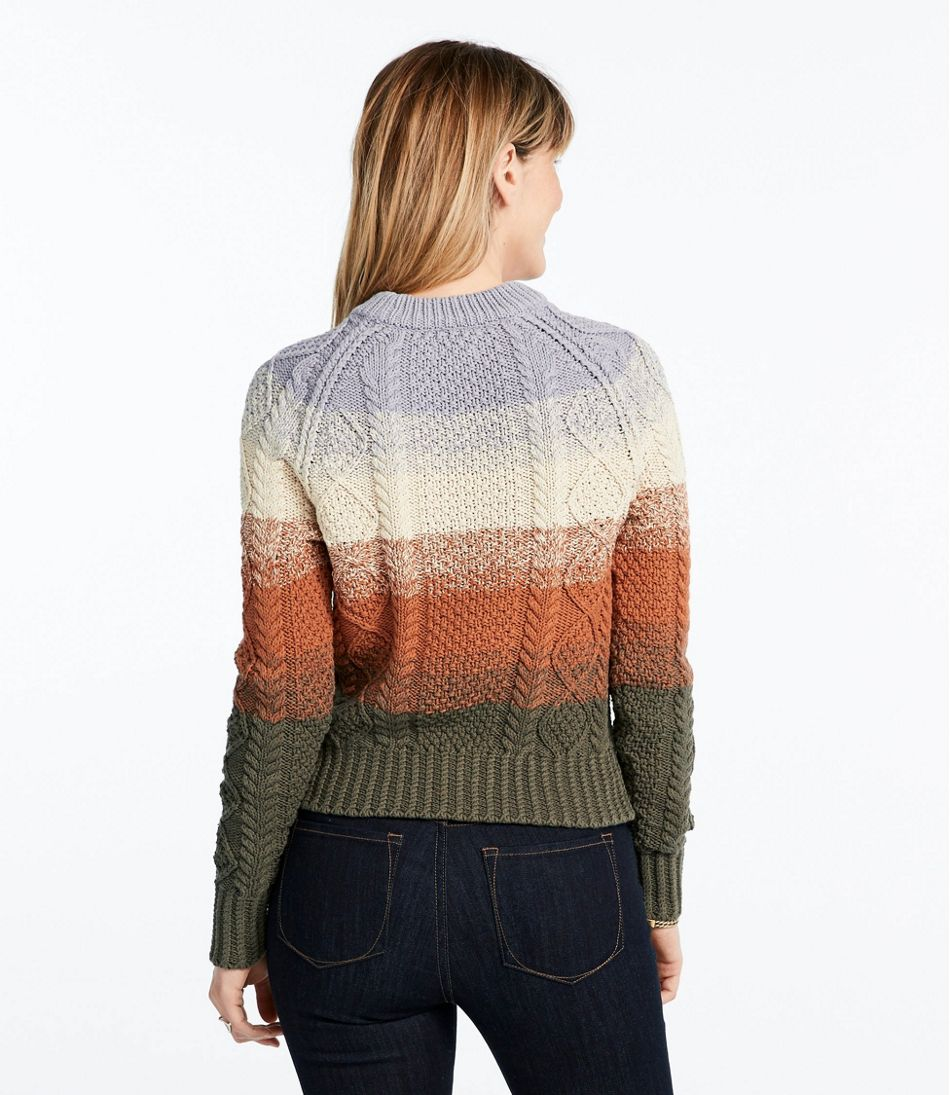 Signature Cotton Fisherman Sweater, Stripe