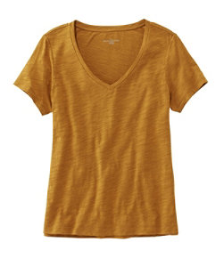 Women's Signature Essential Knit Tee, Short Sleeve V-Neck