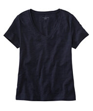 Signature Essential Knit Tee, Short Sleeve V-Neck