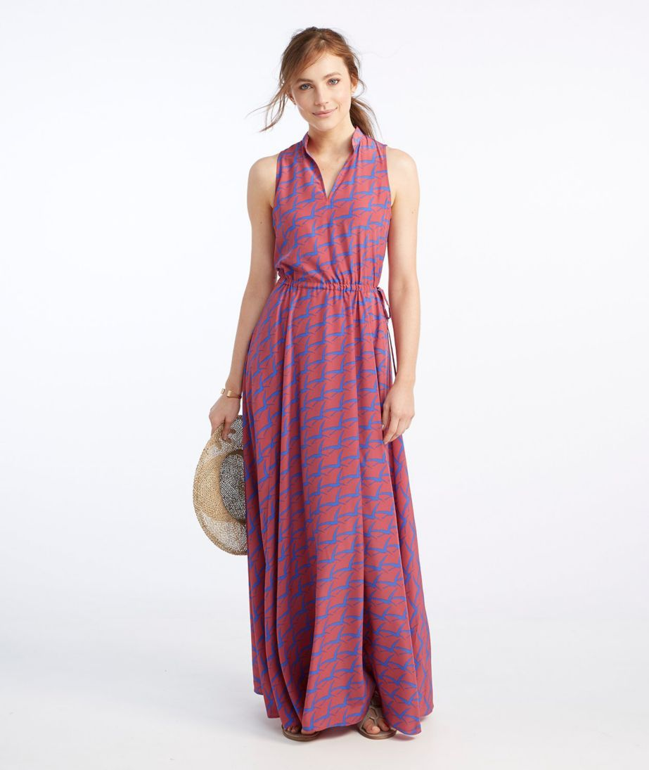 Signature Maxi Dress, French Blue Print