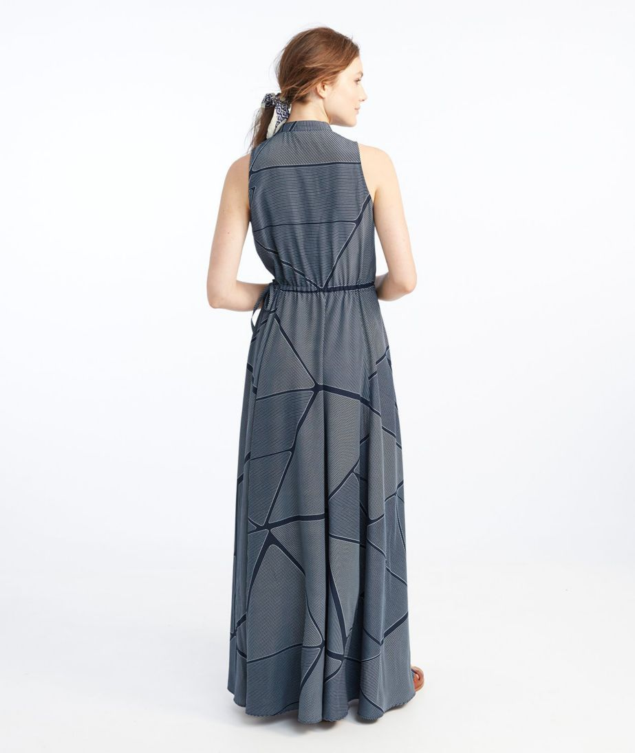 Signature Maxi Dress, Navy Print