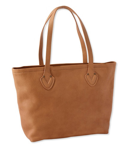Signature Unstructured Leather Tote