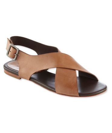 Signature Leather Cross-Strap Sandals