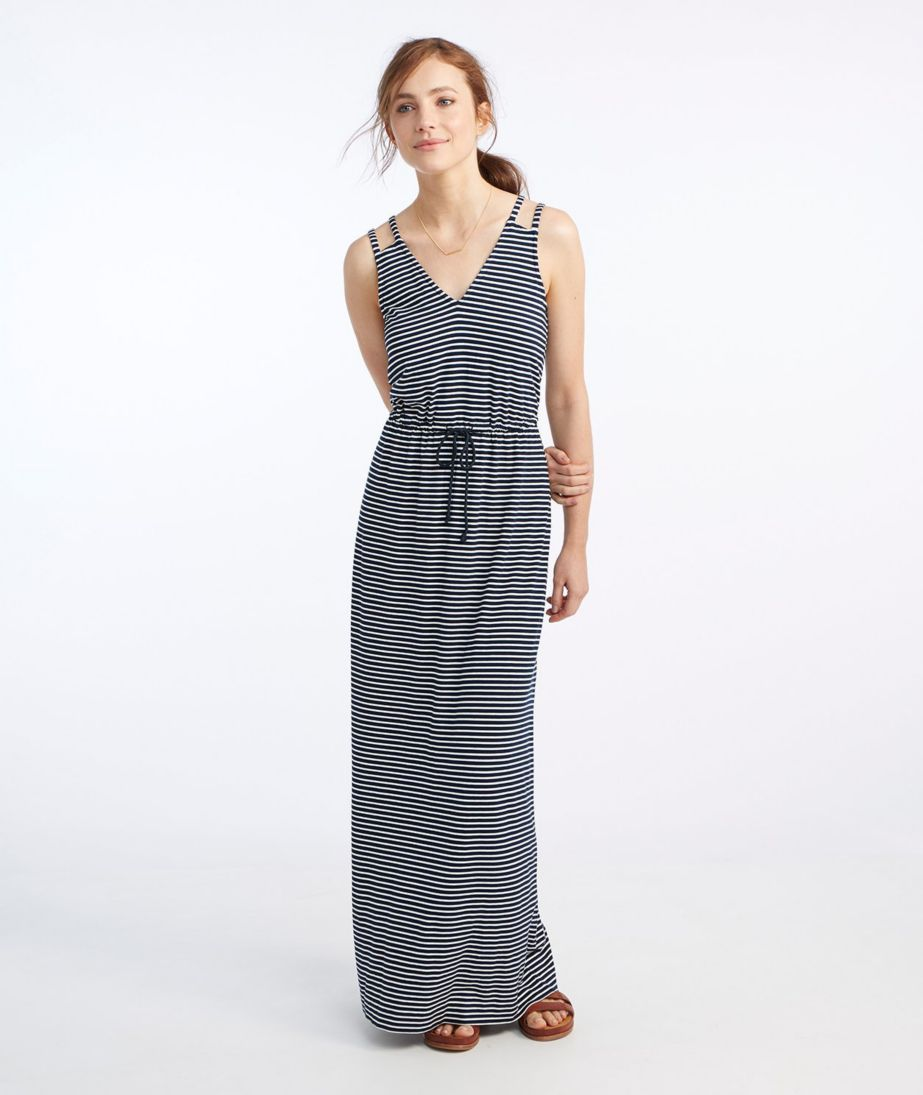 Signature Knit Maxi Dress, Stripe