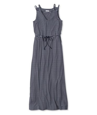 Signature Knit Maxi Dress, Stripe