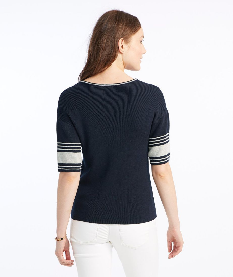 Signature Striped V-Neck Sweater
