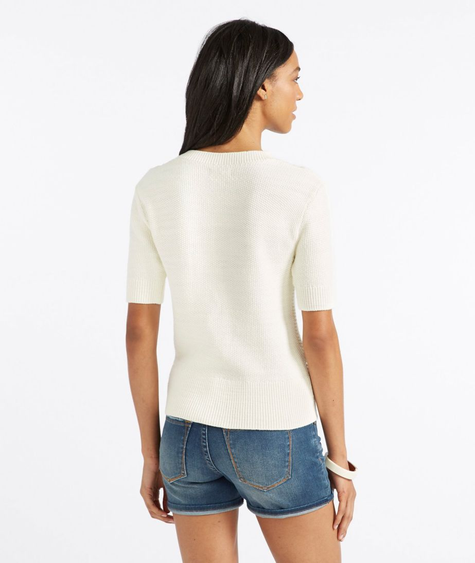 Signature Short-Sleeve Fisherman Sweater