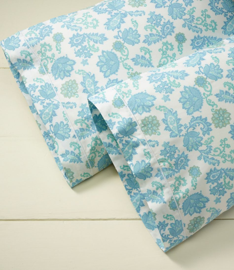 340-Thread-Count Cotton Sateen Sheet Collection, Floral